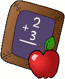 Chalkboard with apple clipart